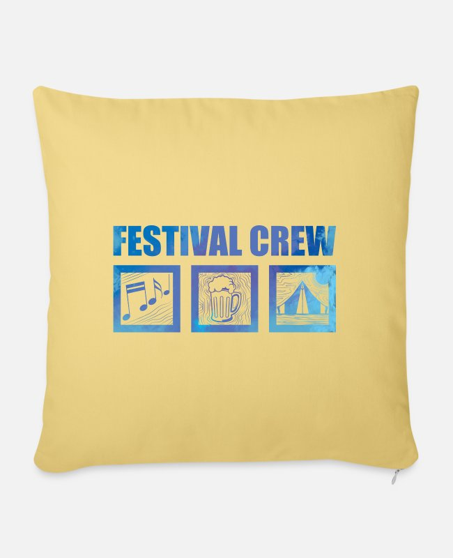 Group Pillow Cases - Festival outfit - Pillowcase 17,3'' x 17,3'' (45 x 45 cm) washed yellow
