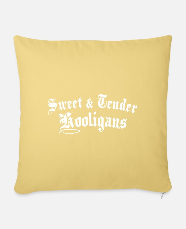 Sweetheart Pillow Cases - Sweet And Tender Hooligan Graphic - Pillowcase 17,3'' x 17,3'' (45 x 45 cm) washed yellow