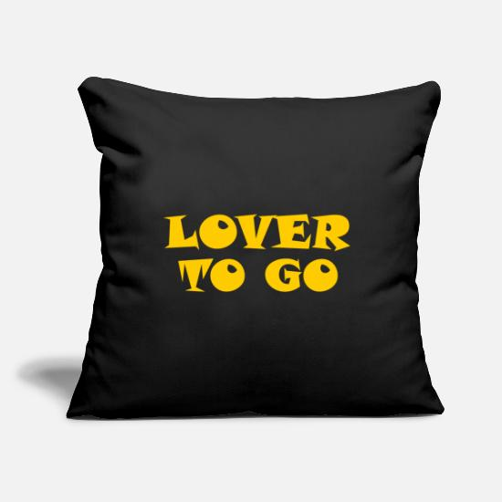 Love Pillow Cases - Lover to go - Lover to go - Pillowcase 17,3'' x 17,3'' (45 x 45 cm) black