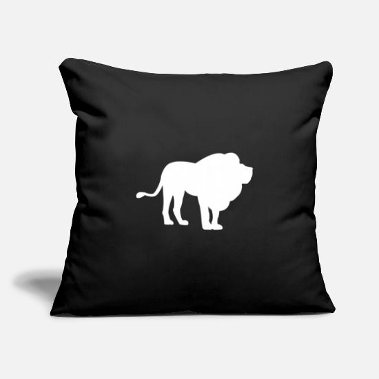 Silhouette Pillow Cases - Lion with mane - Pillowcase 17,3'' x 17,3'' (45 x 45 cm) black