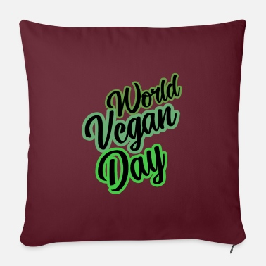Slogan Slogan di slogan di World Vegan Day slogan - Copricuscino