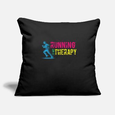 Funny Running Running Funny Design - Running Is My Therapy - Pillowcase 17,3'' x 17,3'' (45 x 45 cm)