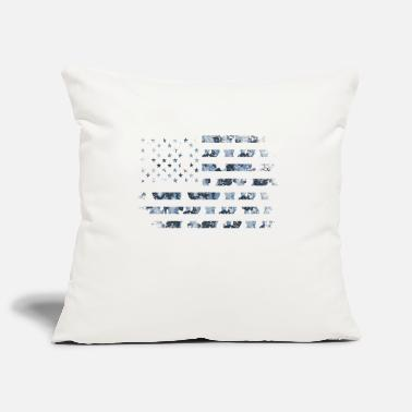 Browning Deer Camo Camo American Flag USA Military Style Grey Blue Ca - Pillowcase 17,3'' x 17,3'' (45 x 45 cm)