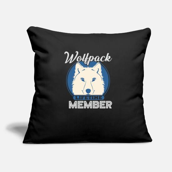 Birthday Pillow Cases - WOLF TSHIRT GIFT YOUNG PERSON AWESOME FUNNY - Pillowcase 17,3'' x 17,3'' (45 x 45 cm) black