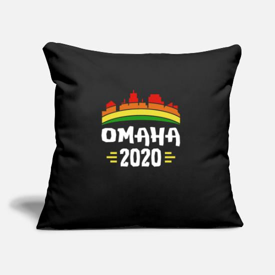 Omaha Pillow Cases - City Trip 2020 Omaha America - Pillowcase 17,3'' x 17,3'' (45 x 45 cm) black