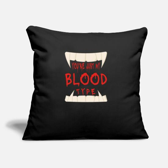 Cosplay Pillow Cases - You have my blood group Vampire Halloween - Pillowcase 17,3'' x 17,3'' (45 x 45 cm) black