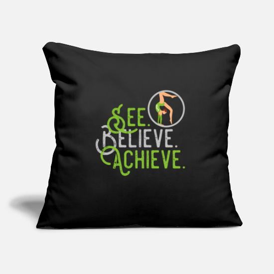 Freestyle Pillow Cases - Rhönrad See Faith Achieve - Pillowcase 17,3'' x 17,3'' (45 x 45 cm) black