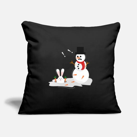 Easter Pillow Cases - Snowman and Easter bunny Christmas & Easter - Pillowcase 17,3'' x 17,3'' (45 x 45 cm) black