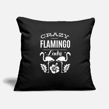 Birds Crazy Flamingo Lady - bird animal fan - Copricuscino