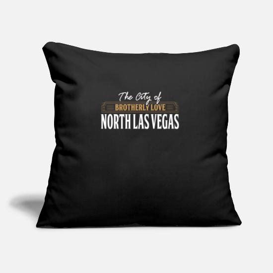 Tourist Pillow Cases - City of brotherly love: North Las Vegas USA - Pillowcase 17,3'' x 17,3'' (45 x 45 cm) black