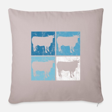 Dairy Agriculture Retro Cow Cows Cow Farmer Farmer Farmer - Pillowcase 17,3'' x 17,3'' (45 x 45 cm)