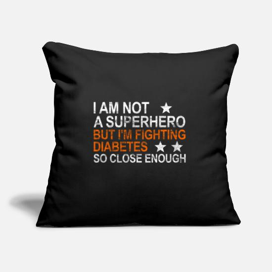 Type Pillow Cases - Diabetes Superhero Type 1 Insulin Syringe Gift - Pillowcase 17,3'' x 17,3'' (45 x 45 cm) black