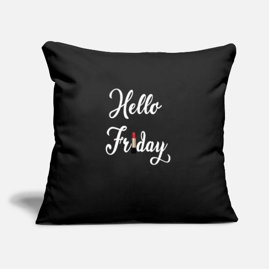 Gift Idea Pillow Cases - Friday party women's evening lipstick girls evening - Pillowcase 17,3'' x 17,3'' (45 x 45 cm) black
