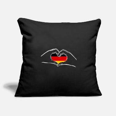 German Eagle Germany love love hand flag country - Pillowcase 17,3'' x 17,3'' (45 x 45 cm)