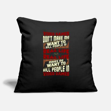 Monitoring Video Games Don't Make Me Want To Kill People - Pillowcase 17,3'' x 17,3'' (45 x 45 cm)