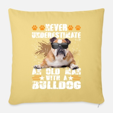 Unicorn Never Underestimate An Old Man With A Bulldog - Pillowcase 17,3'' x 17,3'' (45 x 45 cm)