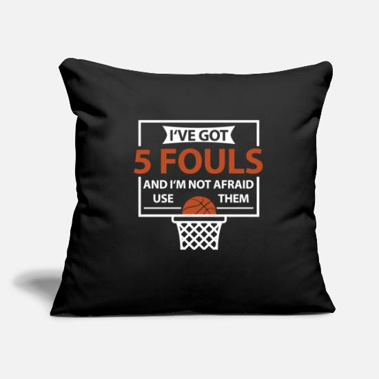 Birthday Pillow Cases - Basketball B-Ball Streetball 5 Fouls Gift - Pillowcase 17,3'' x 17,3'' (45 x 45 cm) black