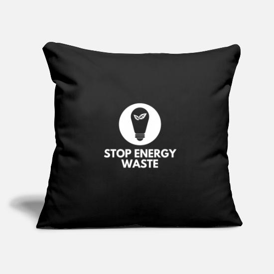 Gift Idea Pillow Cases - Environmental protection Energy Save energy Green planet - Pillowcase 17,3'' x 17,3'' (45 x 45 cm) black