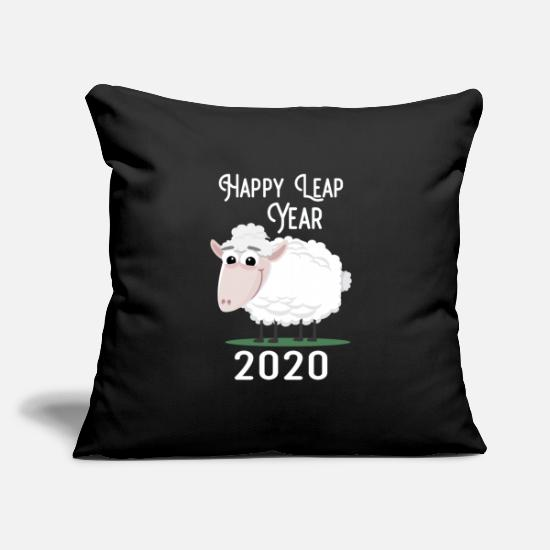 Symbol  Pillow Cases - New Year 2020 and sheep year - Pillowcase 17,3'' x 17,3'' (45 x 45 cm) black