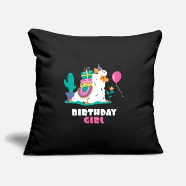 Girl Alpaca Llama Cactus Girls Birthday - Pillowcase 17,3'' x 17,3'' (45 x 45 cm)