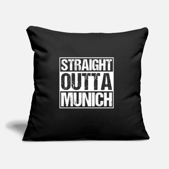 State Capital Pillow Cases - Straight Outta Munich Munich Munich - Pillowcase 17,3'' x 17,3'' (45 x 45 cm) black