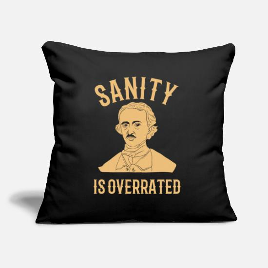 Midnight Pillow Cases - EDGAR ALLAN POE: Sanity Is Overrated - Pillowcase 17,3'' x 17,3'' (45 x 45 cm) black