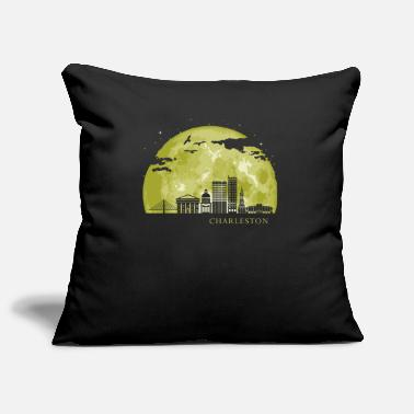 House Building CHARLESTON Moon Light Night Stars Skyline - Pillowcase 17,3'' x 17,3'' (45 x 45 cm)