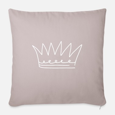 Prince Emoji crown crowns sketch white - Pillowcase 17,3'' x 17,3'' (45 x 45 cm)