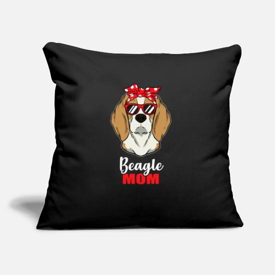 Birthday Pillow Cases - Cool Beagle Dog Mom Dog Lover Pet Gift - Pillowcase 17,3'' x 17,3'' (45 x 45 cm) black