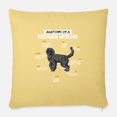 Dog Anatomy Of A Portuguese Water Dog Dog Owner Gift - Pillowcase 17,3'' x 17,3'' (45 x 45 cm)