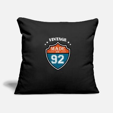 Year Of Birth Vintage Made In 92 1992 Birthday Gift - Pillowcase 17,3'' x 17,3'' (45 x 45 cm)