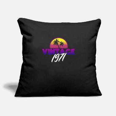Palm Retrowave Vintage 1971 Birthday Gift Idea - Pillowcase 17,3'' x 17,3'' (45 x 45 cm)