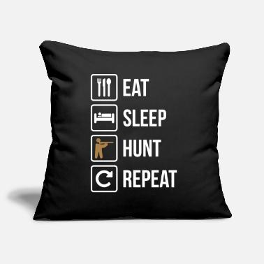 Eat Eat Sleep Hunt Repeat Guns - Pillowcase 17,3'' x 17,3'' (45 x 45 cm)