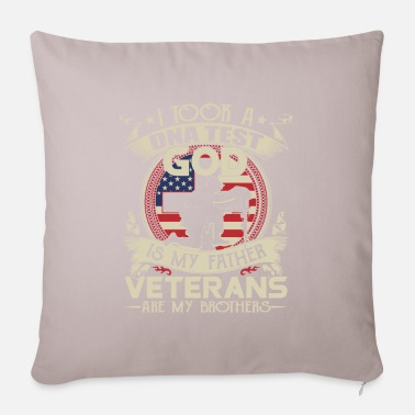 Usa Flag I Took a DNA Test God is My Father Veterans are my - Pillowcase 17,3'' x 17,3'' (45 x 45 cm)