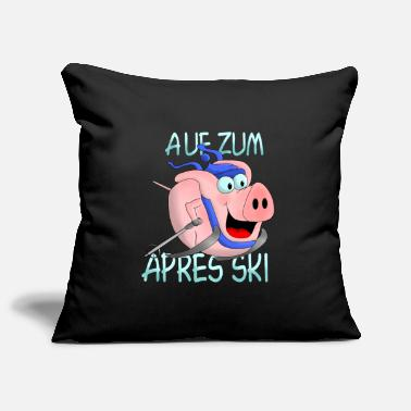 Ski Hut Apres Ski - hut fun - Pillowcase 17,3'' x 17,3'' (45 x 45 cm)