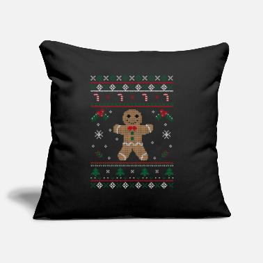 Ugly Ugly Chistmas sweater gingerbread - Pillowcase 17,3'' x 17,3'' (45 x 45 cm)