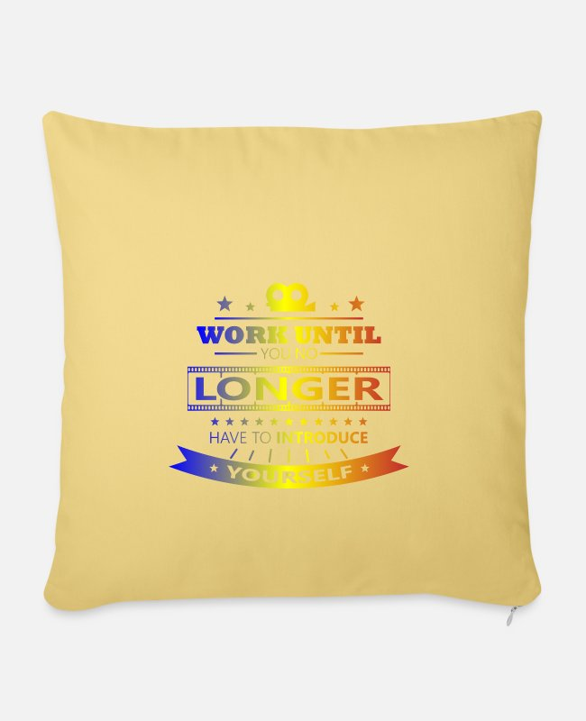 Filmmaker Pillow Cases - Actress Audition Performing Casting - Pillowcase 17,3'' x 17,3'' (45 x 45 cm) washed yellow