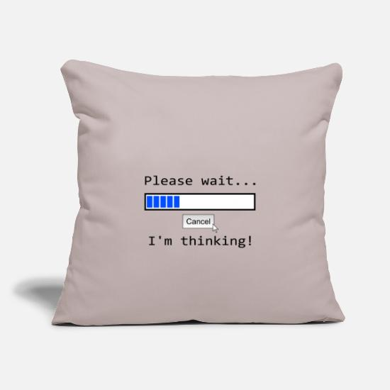 Think Pillow Cases - Nerd Pc T-shirt thinking screen demolition - Pillowcase 17,3'' x 17,3'' (45 x 45 cm) light grey