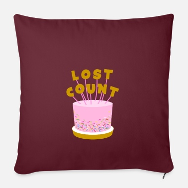 Funny Lost Count Birthday Cake - Pillowcase 17,3'' x 17,3'' (45 x 45 cm)