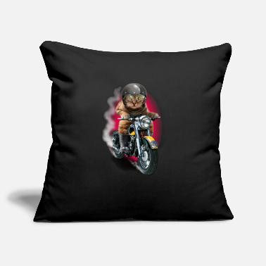 Bikes And Cars Collection CAT RIDER - Pillowcase 17,3'' x 17,3'' (45 x 45 cm)