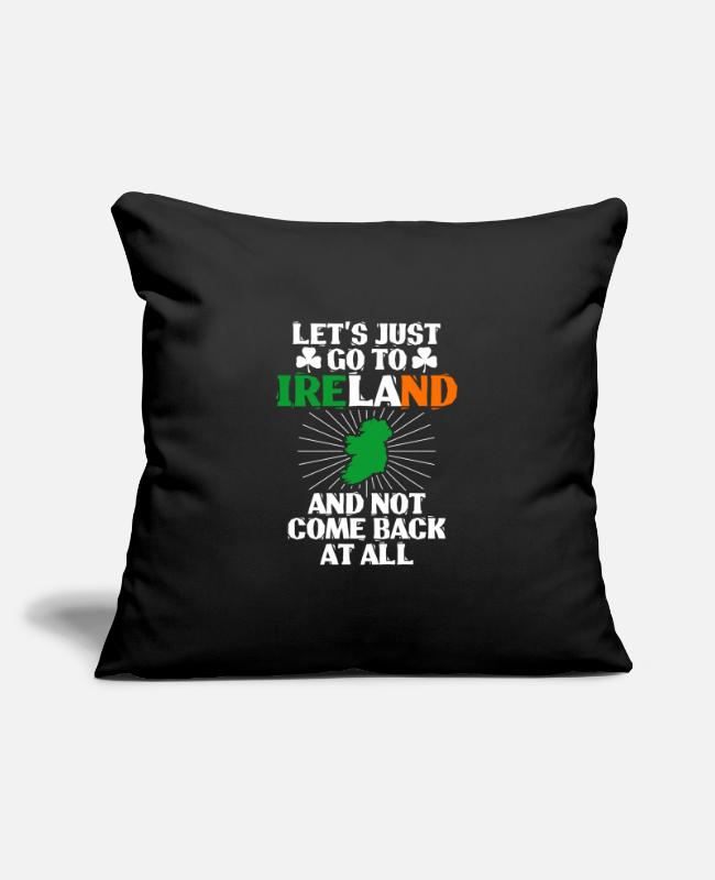 Sant Patricks Day Pillow Cases - Ireland - Pillowcase 17,3'' x 17,3'' (45 x 45 cm) black