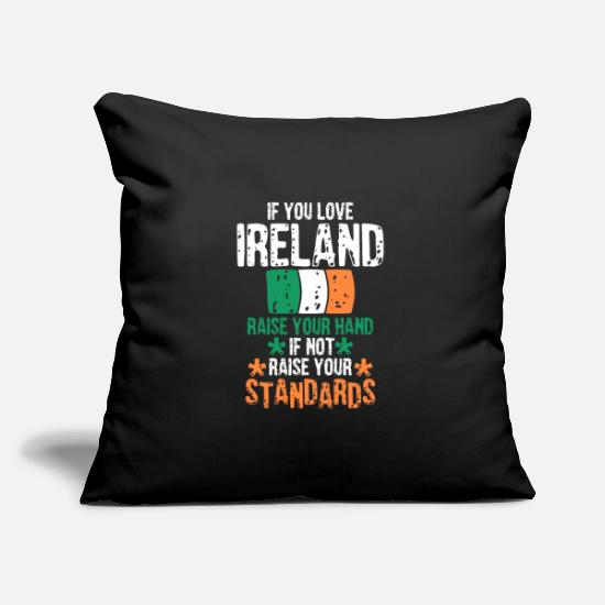 Ireland Pillow Cases - Ireland Dublin Sant Patricks Day gift gift - Pillowcase 17,3'' x 17,3'' (45 x 45 cm) black