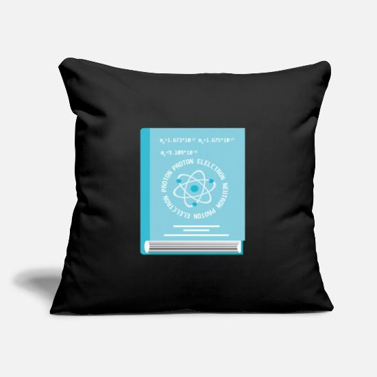 Positive Pillow Cases - Science about the atom - Pillowcase 17,3'' x 17,3'' (45 x 45 cm) black