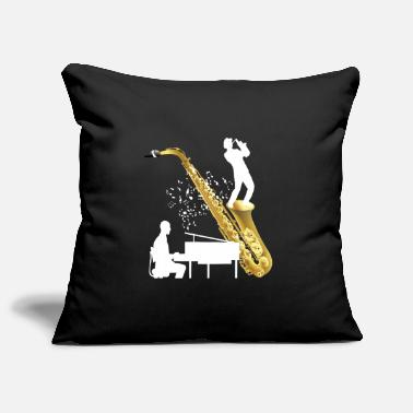 Piano music piece with saxophone - Pillowcase 17,3'' x 17,3'' (45 x 45 cm)
