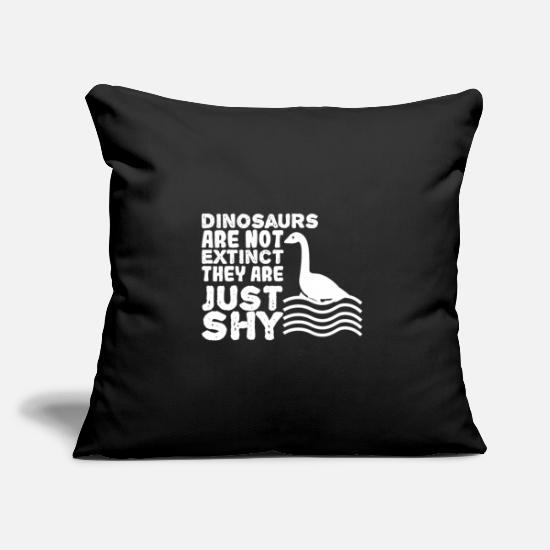 Gift Idea Pillow Cases - dinosaur - Pillowcase 17,3'' x 17,3'' (45 x 45 cm) black