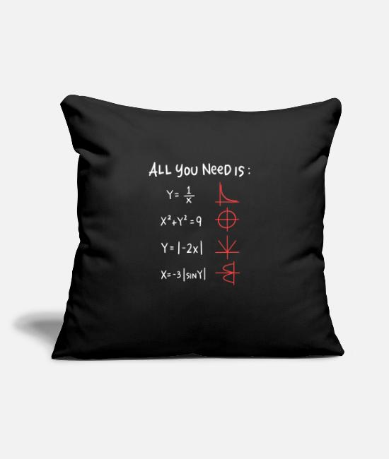 Professor Pillow Cases - All you need is Love Math Trigonometric Functions - Pillowcase 17,3'' x 17,3'' (45 x 45 cm) black