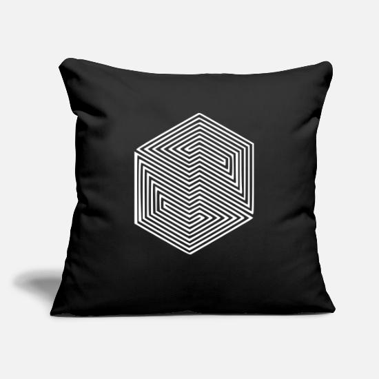 Gift Idea Pillow Cases - Illusion optical illusion hallucination spell - Pillowcase 17,3'' x 17,3'' (45 x 45 cm) black