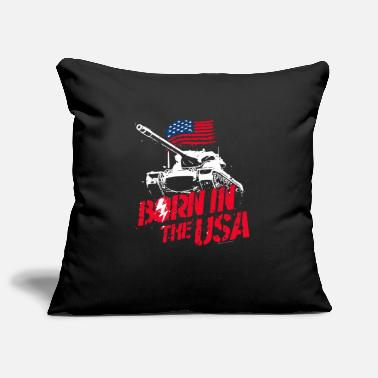 World Of Tanks Blitz Born In The USA Slogan - Pillowcase 17,3'' x 17,3'' (45 x 45 cm)
