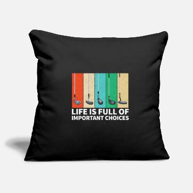 Golf Golf Golf Clubs - Pillowcase 17,3'' x 17,3'' (45 x 45 cm)
