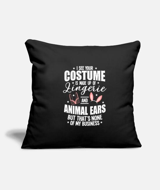 Meme Pillow Cases - Halloween Sexy Ears Underwear Costume Gifts - Pillowcase 17,3'' x 17,3'' (45 x 45 cm) black